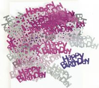 Pink Glitz Table Confetti - Happy Birthday
